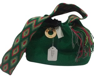 Wayuu Tribe green and red Messenger Bag