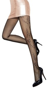Other Black Butterfly Pattern Fishnet Pantyhose Tights