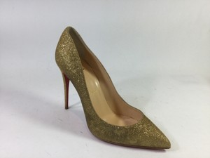 Christian Louboutin Gold Glitter Pumps