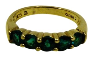 Technibond Technibond Green Gemstone Band Ring Size 7