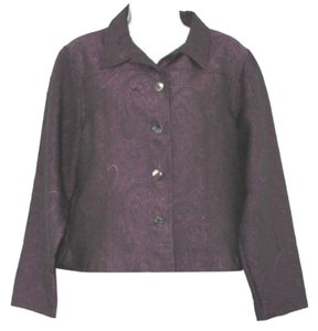 Coldwater Creek Blouse PURPLE Blazer