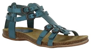 Kickers Leather Comfortable Boho Blue Sandals
