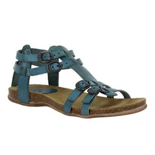 Kickers Leather Comfortable Boho Teal Sandals