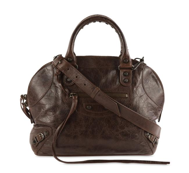 Item - Mini Bowling Brown Lambskin Leather Shoulder Bag