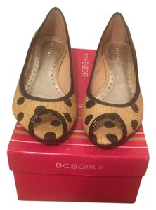 BCBGeneration Bcbg Bcbgirls New Black/Tan polka dot Flats