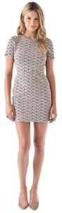 Diane von Furstenberg short dress Beige, Black Lace Mini Summer Sheath on Tradesy