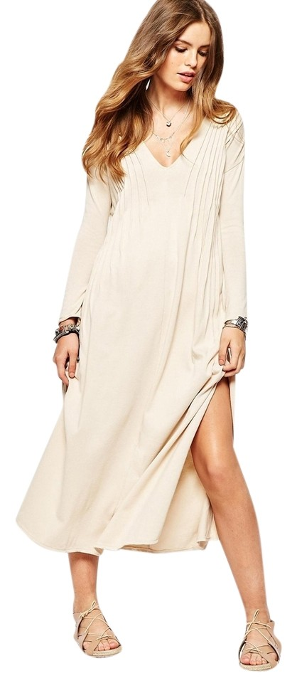 f8c9675baa8 Free People Champagne Sophie Mid-length Casual Maxi Dress Size 2 (XS ...