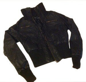 Ambiance Black Faux Leather Small S Jacket