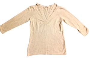 Margaret O'Leary Womens Black Deco Short Sleeve Mock Turtle Neck Knit Top Nude