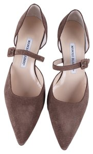 Manolo Blahnik Light Brown Mules
