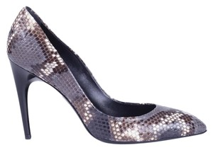 Roger Vivier Python Snakeskin Multi-Colored, Grey/Black Pumps