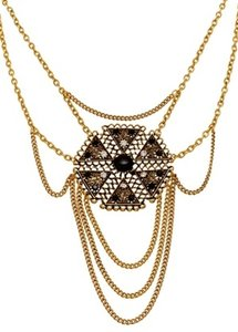 Yochi YOCHI DESIGNS Multi-Chain with Statement Pendant Necklace
