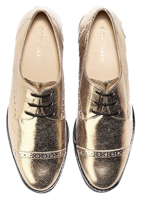 Item - Gold Worn Once Gramercy Cap-toe Oxfords Flats Size US 8 Regular (M, B)