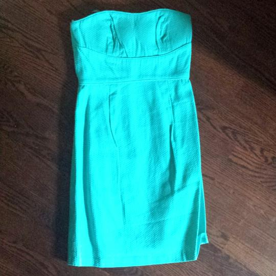 Max and Cleo Low Tide Woven Bustier Strapless Destination Bridesmaid/Mob Dress Size 4 (S) Image 1