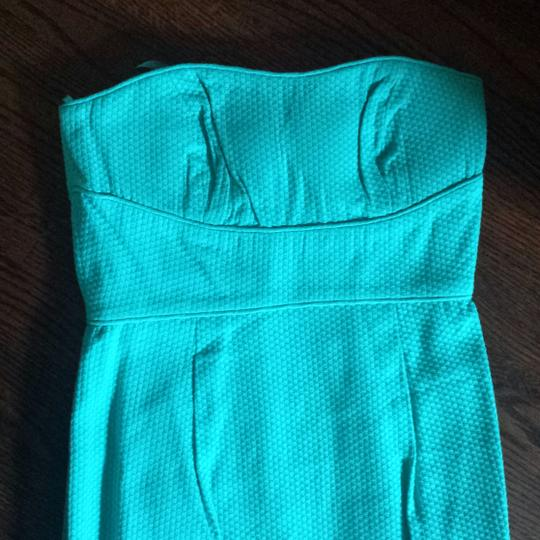 Max and Cleo Low Tide Woven Bustier Strapless Destination Bridesmaid/Mob Dress Size 4 (S) Image 2