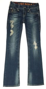 Rock Revival Comfortable Night Out Date Night Party Casual School Boot Cut Jeans-Acid