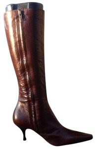 Enrico Antinori Leather Square Toe Italian Pointed Toe Brown Boots