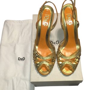 Dolce&Gabbana Orange/Gold Pumps