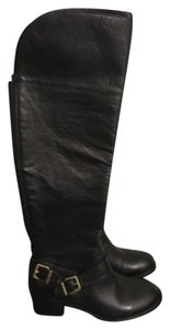 Vince Camuto Knee Height Leather Blac Boots