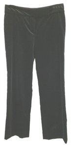 Escada Stretchy Velvet Straight Pants BLACK