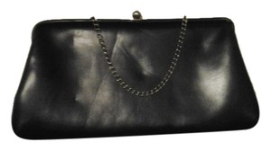 Other Vintage Patent Gold Hardware Gold Chain Strap black Clutch