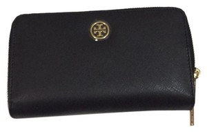 Tory Burch Robinson Leather Double Zip Continental Wallet
