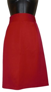 Vertigo Paris Pencil Wool Skirt Red