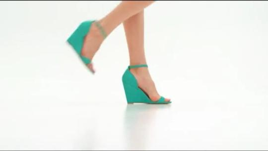 JustFab Green Wedges