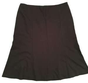 Theory wool flannel trumpet skirt Skirt Chocolate brown flannel