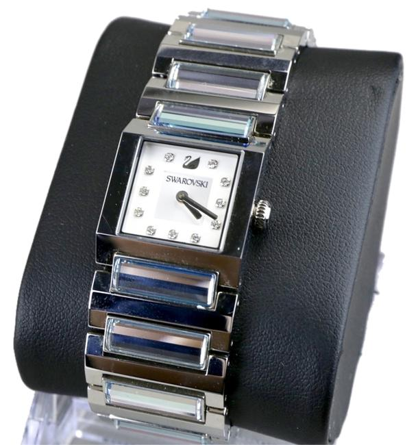 Item - Silver Swiss Made Crystal Dress Time Watch