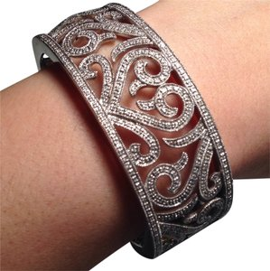 Bloomingdale's Genuine Diamond Pave Heart Cuff Bracelet