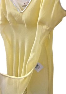 See by Chloé Chloe Silk Blouse Top Pale Yellow