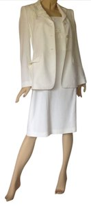 Rena Lange Rena Lange White Dress Jacket Suit