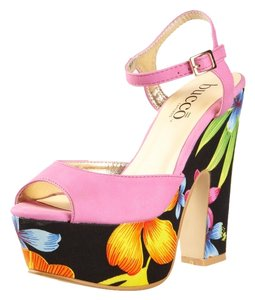 Bucco Bright Pink Platforms