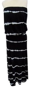 Black Maxi Dress by Elan Womens White