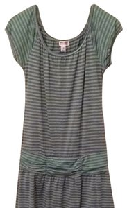 Mossimo Supply Co. short dress Green/gray Stripe on Tradesy