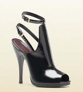 Gucci Patent Leather 304707 Black Boots