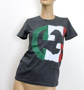 Gucci Womens Interlocking T Shirt Gray