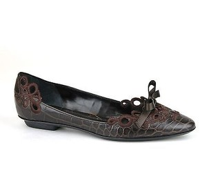 Giorgio Armani Leather Brown Flats