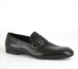 Bottega Veneta Mens Leather Loafer Dress Shoe Woven Detail 324655 1000