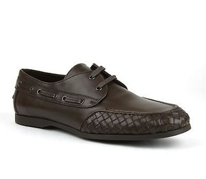 Bottega Veneta Mens Leather Woven Lace-up 308186 Vbfv1 2515 It 44 / Us 11