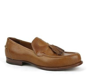 Bottega Veneta Mens Leather Tassel Loafer Dress Shoe Brown 298735 2517