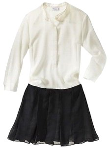 3.1 Phillip Lim for Target short dress Black and Cream Box Pleated Skirt Pleated Preppy on Tradesy