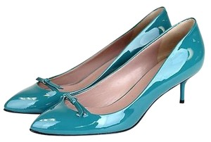 Gucci Patent Leather Pump Parrot Green Pumps