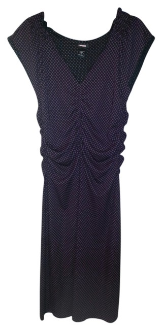 Preload https://item3.tradesy.com/images/express-purple-and-black-cocktail-mid-length-night-out-dress-size-14-l-933782-0-0.jpg?width=400&height=650