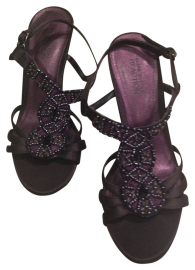 Kenneth Cole Reaction Beaded Heels Black Sandals