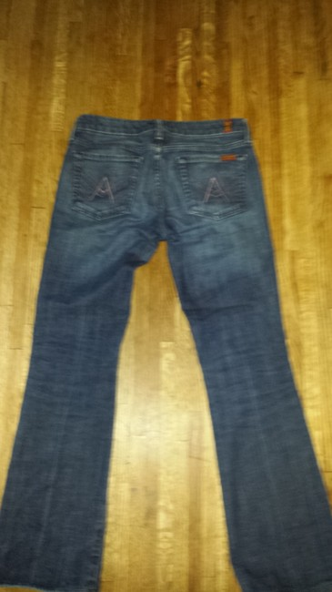 7 For All Mankind A Pocket Silver Jeans Flare Pants Denim