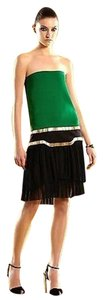Gucci short dress Green/Black Runway Silk Strapless on Tradesy