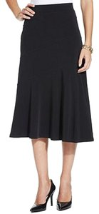 JM Collection Pull-on A-line Skirt BLACK