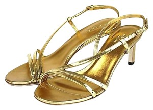 Gucci Leather 324255 8660 Gold Sandals